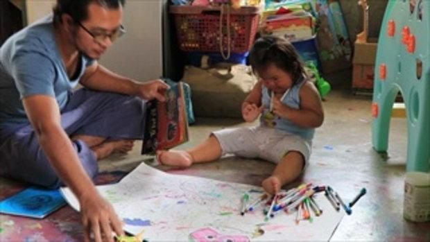 ศิลปินยังทึ่ง ภาพแอบสแตรกขั้นเทพ ผลงานของเด็กเชียงใหม่ 2 ขวบ