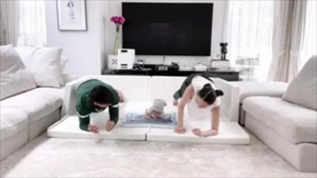 น่ารักมาก เจนี่-มิกกี้ ชวนน้องโนล่า ออกกำลังกาย