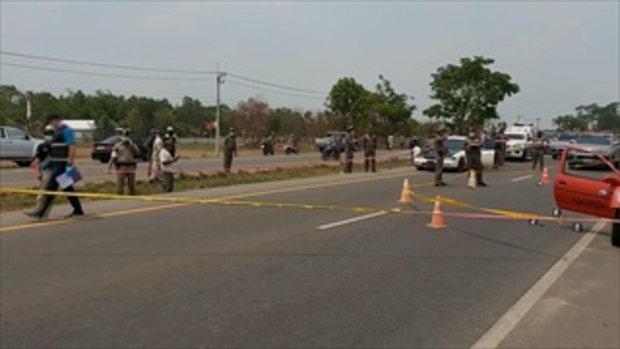 หนุ่มควงปืนง้อแฟนในโชว์รูมรถ ก่อนหนีตำรวจ ชักปืนยิงสู้ สุดท้ายถูกวิสามัญดับ
