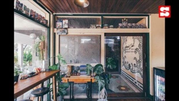 Motard Cafe เปลี่ยนบ้านพักให้กลายเป็นคาเฟ่สองสไตล์ ผสมผสานความต่างของพ่อลูก