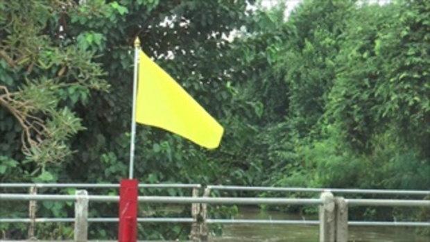 เทศบาลโคราช ปักธงเหลืองระวังน้ำล้น