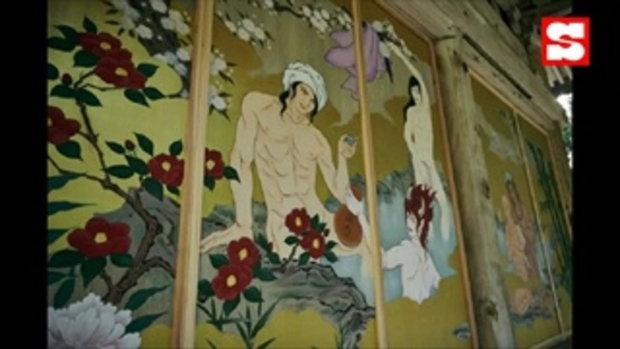 สาววายกรีดร้อง วัดญี่ปุ่นขึ้นรูปหนุ่มหล่อสไตล์จิ้นทั่ววัด หวังเรียกเยาวรุ่นยุคใหม่เข้าวัดวา