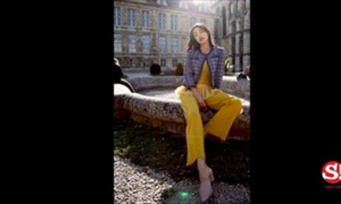 ส่องแฟชั่น โยเกิร์ต-ซาร่า ในลุคสบายๆ ก่อนเตรียมสวยเฉิดฉายบนพรมแดงเมืองคานส์