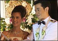 พิธีฉลองสมรสพระราชทาน ธัญญ่า-เป๊ก