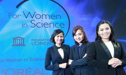 """ลอรีอัล เปิดตัว 3 ผู้หญิงเก่ง นักวิจัย """"เพื่อสตรีในงานวิทยาศาสตร์"""""""