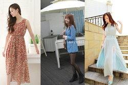 เทรนด์เสื้อผ้าแฟชั่นเกาหลีกับชุดเดรสสวยๆ