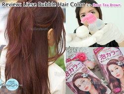เปลี่ยนสีผมง่ายๆด้วยตัวเองกับ Liese สีใหม่ Rose Tea Brown