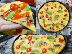 ##พิซซ่าไข่เจียวชีสกระทะร้อน ทั้งไข่ ทั้งชีส ฟินเฟ่อร์! มีสกิลแค่เจียวไข่เป็นก็ทำเมนูนี้ได้ by Ching