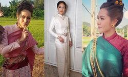 ส่อง 3 ชุดแต่งงาน นิว นภัสสร งดงามสไตล์ล้านนาไทย