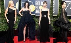 """""""แฟชั่นชุดดำ"""" ในงาน Golden Globe 2018 เพื่อต่อต้านการคุกคามทางเพศ"""