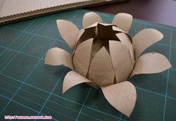 ทำกระทงกระดาษ จากวัสดุเหลือใช้ 2 (แกนกระดาษทิชชู่)