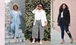 30 ไอเดียแฟชั่นชุดทํางาน คู่กางเกง สำหรับสาว Plus Size