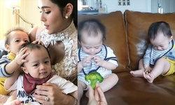 ส่องเมนูของกินเล่นของสายฟ้า-พายุ 9 เดือนแล้ว แม่ชมให้ลูกๆ กินอะไรกันบ้าง
