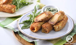 Melon & Prosciutto with Spinach Cream เสิร์ฟคู่กับครีมผักโขม