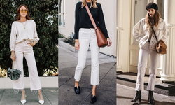 White Jeans ยีนส์สีขาว วินเทจเบาๆ ให้ลุคดูดีแบบคลาสสิคเกิร์ล
