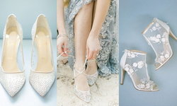 4 กฎการเลือกรองเท้าเจ้าสาวแบบซีทรูปักลูกไม้ให้สวยเป๊ะปัง ไม่เมื่อย ใส่ได้อีกเรื่อยๆ