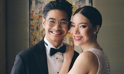 รวมภาพบรรยากาศพิธีแต่งงาน เนม เก็ตสึโนวา - ป้อ สารชา หรูหรางดงาม สมเป็นคู่รักไฮโซ