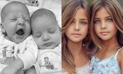 ฝาแฝดที่สวยที่สุดในโลก Leah Rose และ Ava Marie นางแบบตัวน้อยสวยคูณสอง