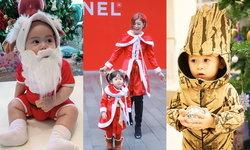 ซานต้า-แซนตี้ ตัวน้อย! เก็บตกภาพวันคริสต์มาสสุดคิ้วท์ของลูกดารา