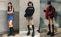 รวม 25 ไอเดียใส่ถุงเท้ายาวสีดำให้ดูดีเท่ๆ สไตล์สาวเกาหลี