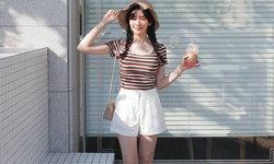 เเชร์ 25 สไตล์เเฟชั่นหน้าร้อนคิวท์ๆ เเบบสาวเกาหลี