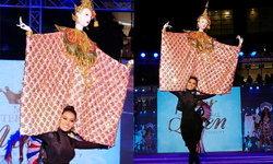 """""""หุ่นกระบอกสยาม"""" ชุดประจำชาติ สวยผงาดบนเวที """"Miss International Queen 2019"""""""