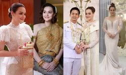 """""""นาตาลี เดวิส"""" กับ 4 ชุดแต่งงานแบบไทย เรียบหรู ดูสวยแพง"""