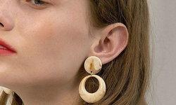 ตุ้มหู Circle Acrylic Dangle เทรนด์ใหม่มาแรงถูกใจสไตล์มินิมอล