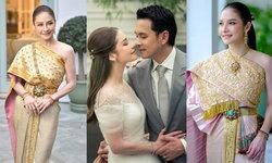 """เก็บตก 3 ชุดแต่งงาน """"นาตาลี ณัฏฐินี"""" เจ้าสาวลูกครึ่งที่ใส่ชุดไทยได้สง่างามมาก"""