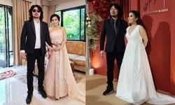 """2 ชุดแต่งงาน """"กานต์ วิภากร"""" ภรรยา """"เสก โลโซ"""" งดงามอลังการ มูลค่ารวมเกือบ 3 แสน"""