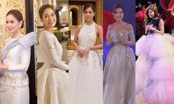 """""""ก้อย รัชวิน"""" กับ 5 ลุคชุดแต่งงานแบรนด์ไทย สวย หวาน เท่ ครบรส"""