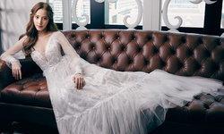 """""""พิกเล็ท ชาราฎา"""" ออร่าเจ้าสาวแรง สวยหรูในชุดแต่งงานแบรนด์ไทย"""