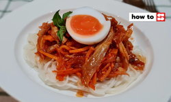 วิธีทำ บะหมี่ซอสเผ็ดไก่ฉีก แบบสาวคอนโดติ่งซีรีย์เกาหลี กินแล้วซารังเฮ!