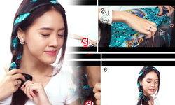 How-to : เปลี่ยนลุคเป็นสาวหวานง่ายๆ ด้วยผ้าพันคอ
