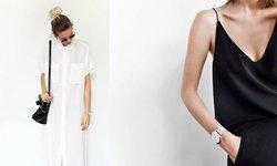 แฟชั่นชุดขาว ดำ แต่งง่ายๆ สไตล์ Minimal