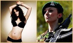 เมื่อทหารสาว ปลดอาวุธ สวมบรา ถ่ายแบบโฆษณาสุดเซ็กซี่
