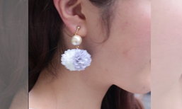DIY ต่างหูโบว์ Pom Pom Earing สุดน่ารัก