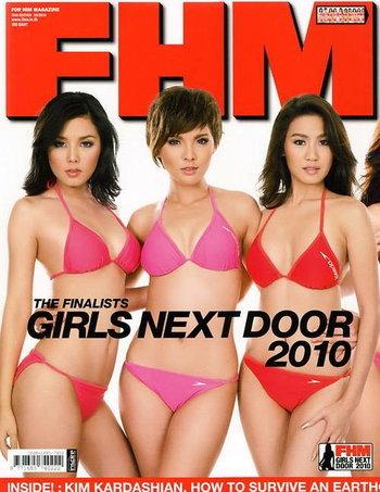 FHM no.83 THE FINALISTS GIRLS NEXT DOOR 2010