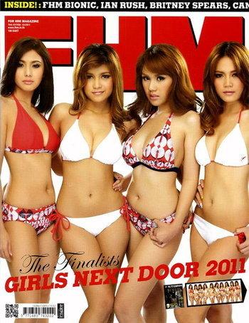 FHM no.95 The Finalists GIRLS NEXT DOOR 2011