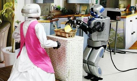 หุ่นยนต์แม่บ้าน สาวใช้ไฮเทคคนใหม่ของคุณแม่บ้านเกาหลี