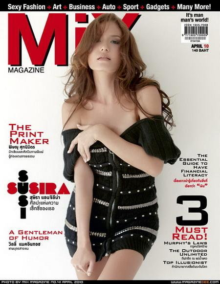 องุ่น วรินทรทิพย์ พริตตี้สาวอวดหุ่นในบิกินี่ ใน Mix Magazine