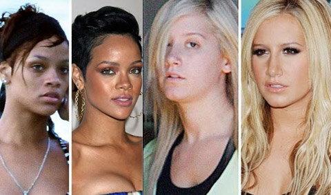 เมื่อใบหน้าที่สวยหรูของคนดัง ไร้เมคอัพ