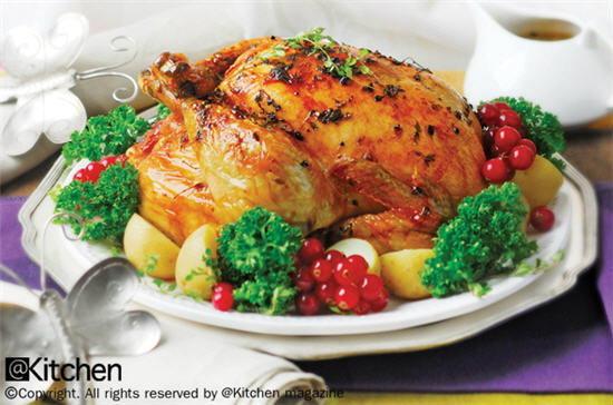 ไก่ยัดไส้อบ (Roast Stuffing Chicken)