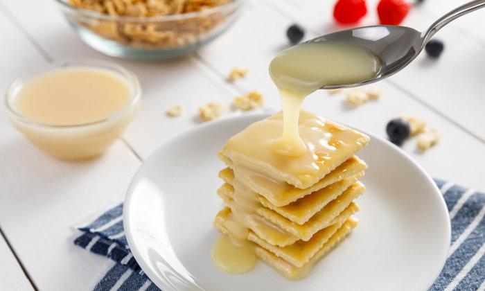นมข้นหวาน ทำเองสไตล์โฮมเมด ไม่มีไขมันทรานส์