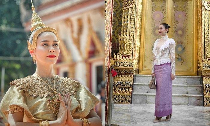 """""""นัท มีเรีย"""" ในชุดไทย 5 แบบ งามจับใจดั่งนางในวรรณคดี"""