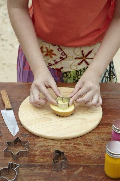 Potato print a picnic set มันฝรั่งพิมพ์ลาย