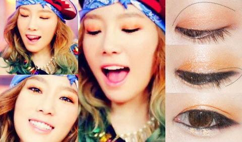 เทรนด์แต่งหน้าโทนสีส้มแบบ คิม แทยอน Girls' Generation