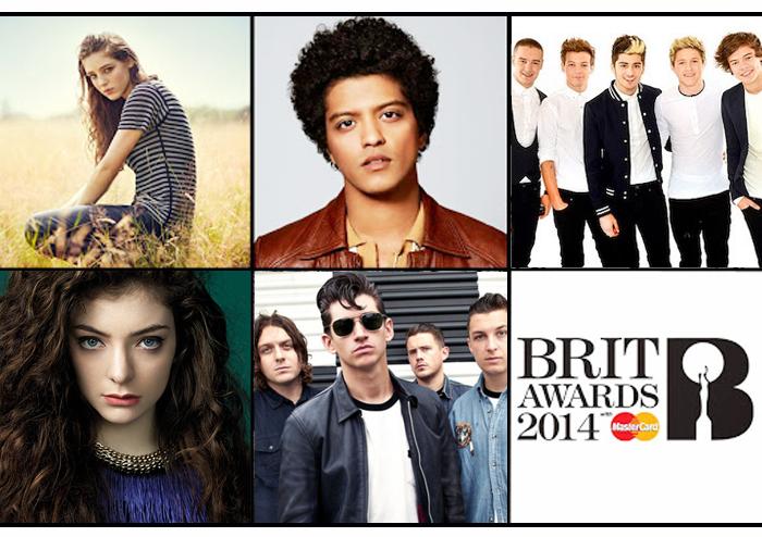 รายชื่อผู้เข้าชิง Brit Awards 2014