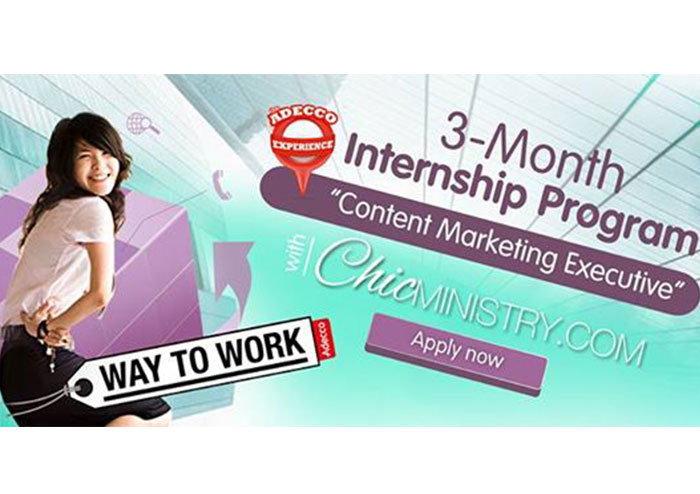 Adecco สานฝันเด็กรุ่นใหม่ ร่วมฝึกงาน Content Marketing Executive ร่วมกับ ChicMinistry.com