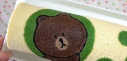 How to เค้กโรลหมี Brown ใน LINE